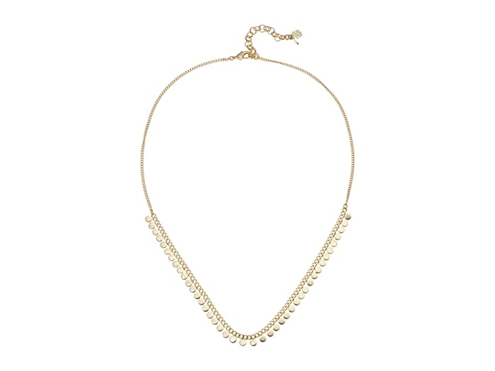 Lucky Brand  Chain Wrapped Collar Necklace (Gold) Necklace
