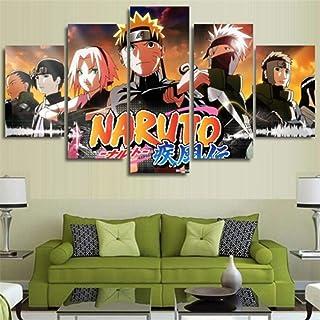 Whian 5 Pièces/Set Dessin Animé DIY Peinture sur Toile Murale Tableaux Impression Posters Et Arts Décorations Naruto 55/4...