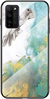 Hicaseer Honor 30 Youth Case, Marble pattern Anti-drop Anti-shock Anti-scratch TPU Shell Glass Beautiful Cover for Huawei ...