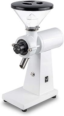 Urbanic 080 Electric Coffee Grinder (110~220v) / flat Titanium burr 60mm / Fine-setable in 100 steps (White)
