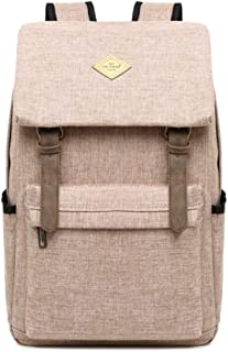 CHENDX Handbags Men and Women Leisure Outdoor Travel Bag Large Capacity Backpack Multi-Function Laptop Bag Student Backpack (Color : Khaki Color, Size : 42cm*30cm*13cm)