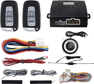 $64 » EASYGUARD EC003N-K-1 PKE Car Alarm System Proximity Lock Unlock Push Button Start Remote Engine Start Keyless Go System DC12V