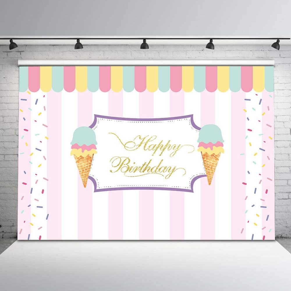 Ice Cream Stand ALL IN ONE vinyl Photography Backdrop
