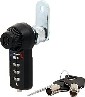 Combi-Cam Ultra, 7432L-BLK-IH & Keys, Inverted Combination Lock with Master Key Override, 1-1/8