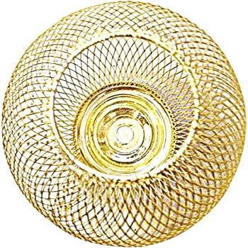 Diamant Retro Glas Lampenschirm Ersatzglas Streifen Diamant klar gold Loch 30mm E14