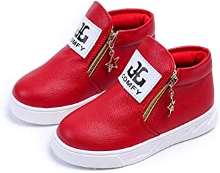 Comfy Kids Shoes Child Boots Sneakers Shoes Casual Leather Shoes Double Zippe