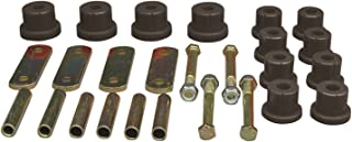Prothane 7-1050-BL Black Rear Multi Leaf Spring Eye and HD Shackle Bushing Kit