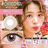 #CHOUCHOU(#チュチュ)1ヶ月 カラコン ナチュラル ハーフ 個性的 マンスリー カラーコンタクトレンズ14.2mm(1箱1枚入り)ゆきら アイクオリティ ミルキーピーチ 度数-000 度なし