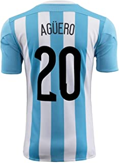 Aguero #20 Argentina Home Soccer Jersey 2015 YOUTH.