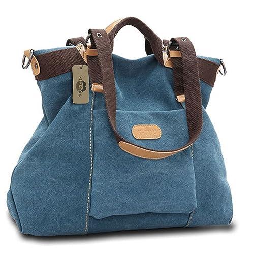 KISS GOLD(TM) Women s Casual Canvas Top-Handle Bag Shoulder Bag 4b1bbf33f9487