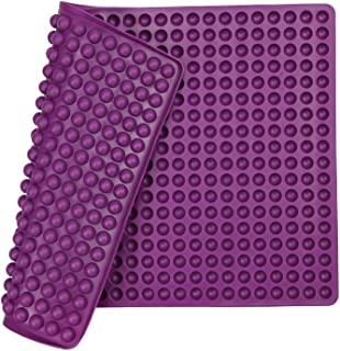 Silicone Baking Mat Cooking Sheets,Baking Molds,For Pets Non-stick, Fat Reducing Mats for Healthy Cooking 11.5 16 in (Purple-0.47 in)