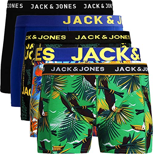 JACK & JONES Trunks 4er Pack Boxershorts Boxer Short Unterhose S M L XL XXL NEU (XXL, 12) (M, 5er Pack Bunt 13 ohne Wäschesack)
