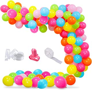 100Pcs Summer Pool Party Balloon Garland Arch Kit, Summer Beach Balloons Garland Tropical Party Decoration for Pool Party ...