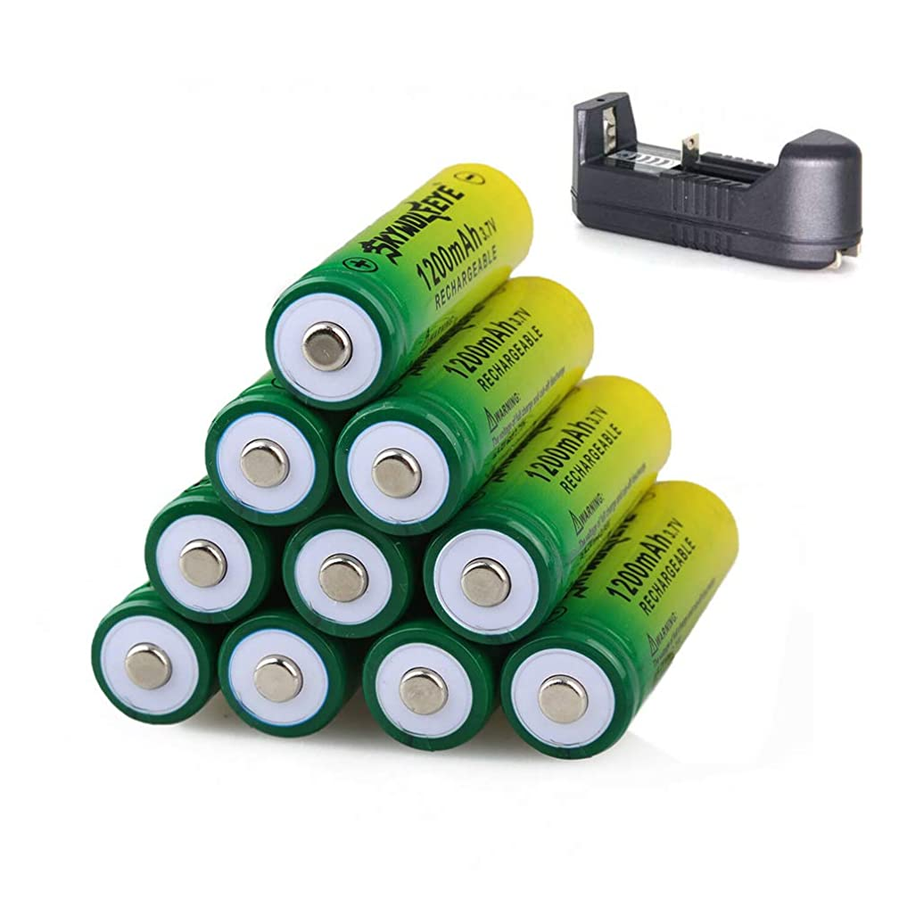 1200mAh 14450 Li-ion Batteries 3.7V Rechargeable For Flashlight,Radio,Laser Pointer