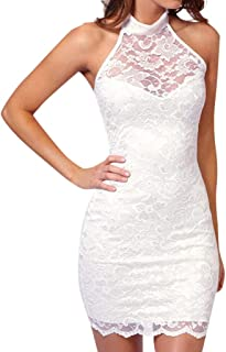 Dresses for Womens, FORUU Sexy Lace Slim Dress Elegant Halter Collar Party Dress Vestidos Femininos