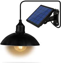 Lixada Solar Pendant Light Classical E27 LED Outdoor Hanging Solar Powered Sensitive Shed Lights, Waterproof Pendant Decoration Lamp for Barn Farm Garden Yard Patio Balcony House Landscape Shed Cover