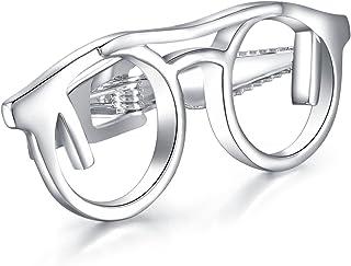 شريط ربط نظارات فضية للرجال من HONEY Bear لمقاس عادي هدية ربطة عنق 4.8 سم