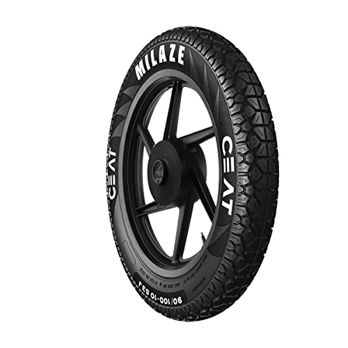Ceat Milaze 80/100-18 54P Tubeless Bike Tyre, Rear (Home Delivery)