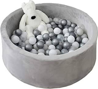 Avrsol Ball Pit for Toddlers Kids Foam Handmade Kiddie Balls Pool, Baby Playpen, Grey