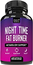 Night Time Fat Burner - Metabolism Support, Appetite Suppressant and Weight Loss Diet Pills for Men and Women - 60 Capsules.