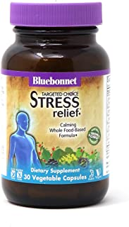 Bluebonnet Nutrition Targeted Choice Stress Relief, Whole Food-Based Formula, For Emotional Physical and Mental Stress, So...