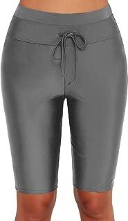 Dona-Brayman Womens Sport Board Shorts Swimsuit Bottom High Waisted Tankini Skinny Capris Swim Shorts