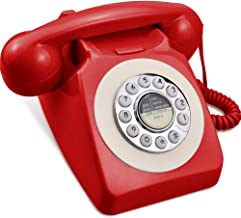 IRISVO Rotary Design Retro Landline Phone for Home,Old Fashioned Corded Telephone with Classic Metal Bell Push Button Tech... photo