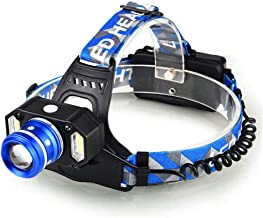XUANLAN LED Glare Long-Range Outdoor Waterproof Charging High-Power Induction Headlights, Outdoor Riding Night Fishing Headlights (Color : Blue)