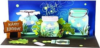 panoramic pop up light up make a wish greeting fireflies card