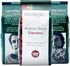 Espresso Coffee Blend by Mixpresso, 100% Made in Italy (4 Bags of 10oz) (Ground Coffee)