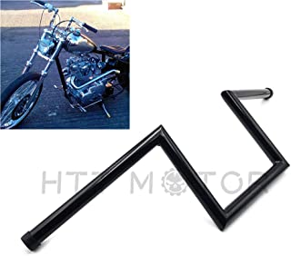 HTTMT HB06-BK Black 25mm 1 inch Handlebar Are Z Style That Feature Early Chopper Styling Motorcycle Handlebar Compatible with Harley Sportster Dyna Bobber FL 1974-1981, FX 1974-1981, XL 1974-1981
