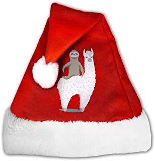 Sloth Riding Llama Santa Hats- Christmas Costume Classic Hat -Christmas Hats for Women/Men/Kids/Adult
