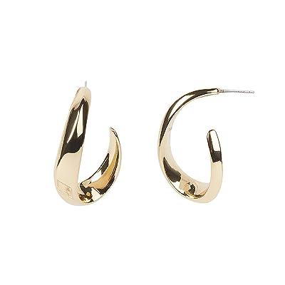 Rebecca Minkoff Swoop Post Earrings (Gold) Earring
