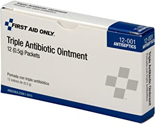 First Aid Only 12-001 Triple Antibiotic Ointment Packet (Box of 12)