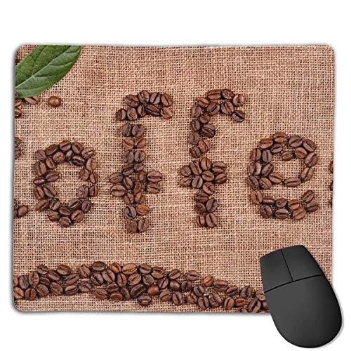 Einzigartige Mauspad Kaffee kreative Bohnen Kunst Rechteck Gummi Mousepad rutschfeste Gaming Mauspad