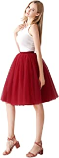 Knee Length Ball Gown Layers Soft Tulle Skirt for Women