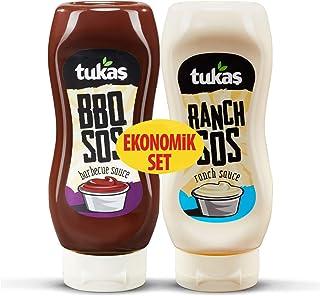 Tukaş Ranch Sos + Barbekü Sos Eko Paket 335 Gr + 400 Gr