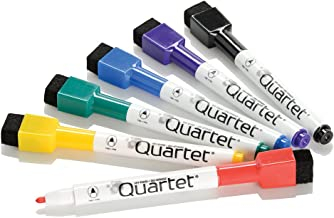 Quartet Dry Erase Markers, Whiteboard Markers, Fine Point, Mini, Magnetic, ReWritables, Classic Colors, 6 Pack (51-659312Q)