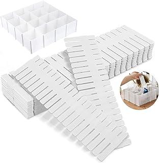 4pcs Organisateur de Tiroir,diy Grille Diviseur de tiroir,réglable, Séparateurs de Tiroir en Plastique pour sous-vêtement...