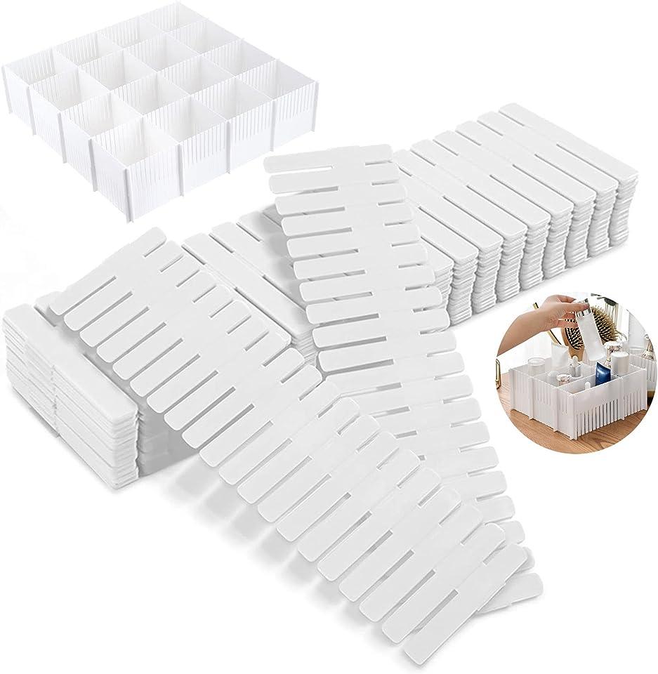 12 Stück Schubladeneinteiler Verstellbar, DIY Schubladen Organizer, Schubladenteiler, für Haus Tidy Closet, Socken, Unterwäsche, Büroschulbedarf (Weiß)