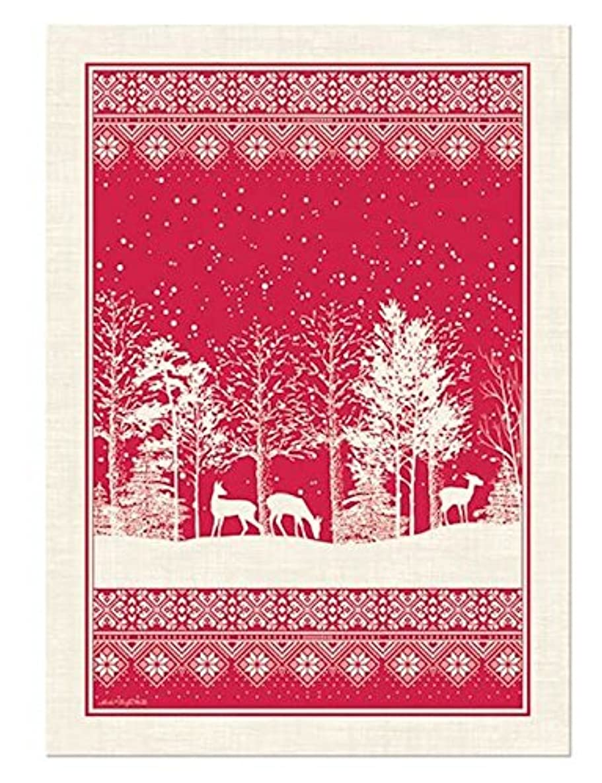 Michel Design Works Cotton Kitchen Dish Towel, Snowy Night