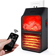 Space Heater Space Heater Office Under Desk with Hot and Cold Settings Remote Control Setting LED Display Temperature (Timed Off Function) Instant Plug-in Space Heater Overheat Protection