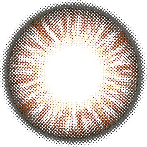 Matlens - Pro Trend Farbige Kontaktlinsen ohne Stärke TriColor Bella braun Big Eyes NPX-D06 2 Linsen 1 Kontaktlinsenbehälter 1 Pflegemittel 50ml