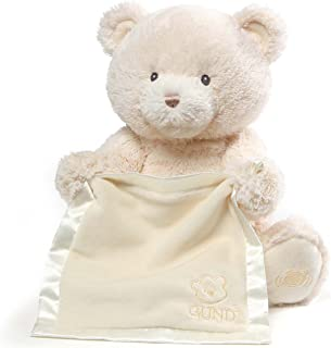 Baby GUND My First Teddy Bear Peek A Boo Animated Stuffed Animal Plush, Cream, 11.5