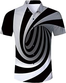 Ahegao Men's Hawaiian Shirt Button Down 3D Print Short Sleeve Tropical Aloha Dress Shirts