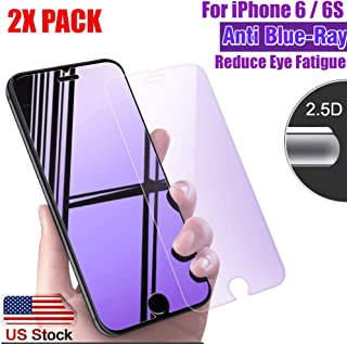 [2 Pack] ProPlusShield 9H Hardness Tempered Glass [HD Clarity] [Anti-Blue Ray] Anti-Blue Light Reduce Visual Fatigue Bubbl...
