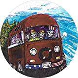 LYMT La Copertura della Ruota di scorta della Famiglia di scheletri per Autobus Hippie Si Adatta all'apertura di Backup montata centrata sulla Fotocamera 255 / 70r18