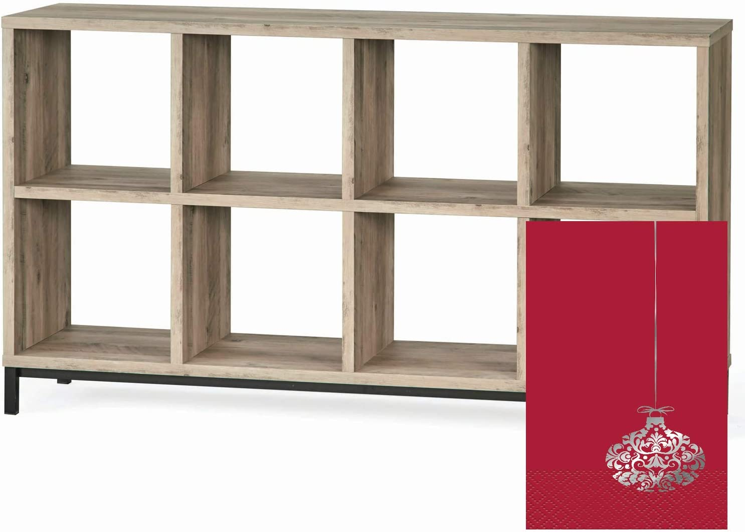Black, 8-Cube Better Homes and Gardens 8-Cube Organizer with Holiday Tree Bundle
