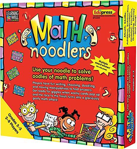 Edupress Math Noodlers Game, Grades 2-3 (EP62350), Multi