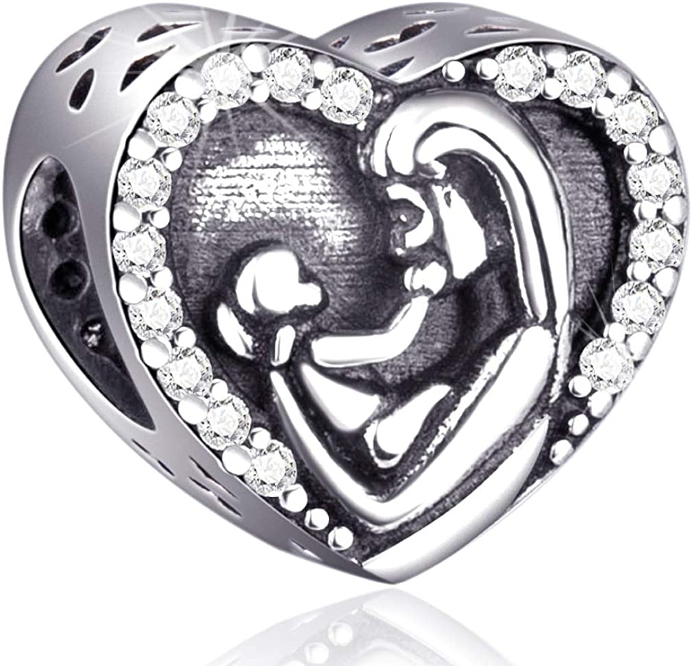 All stores are sold Mom and Child Charms Fit Pandora Bracelets Sterling - 925 Charm Year-end gift